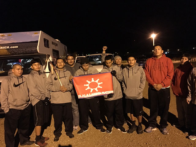 Runners arrived Standing Rock